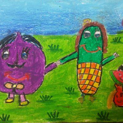 نقاشی خلاق .اثر نیلا مولاپناه .۷ساله .سال ۶ ۹