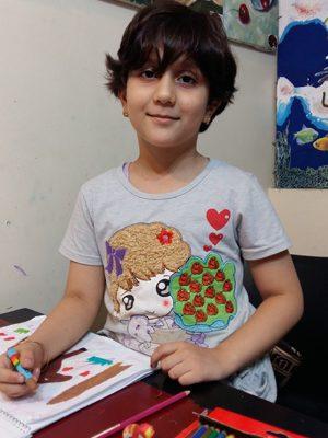 پارمیدا مجلسی .۷ ساله . سال۹۶