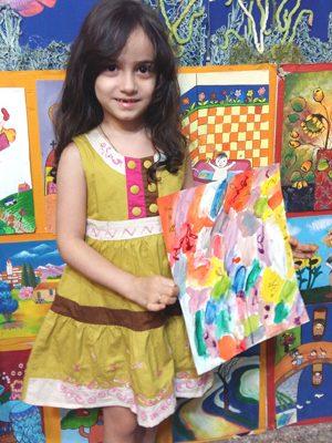 آلینا کاظمی . ۶ ساله . سال۹۶