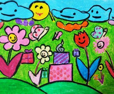 نقاشی خلاق . اثر عسل گلرخ.۱۰ ساله .سال ۶ ۹