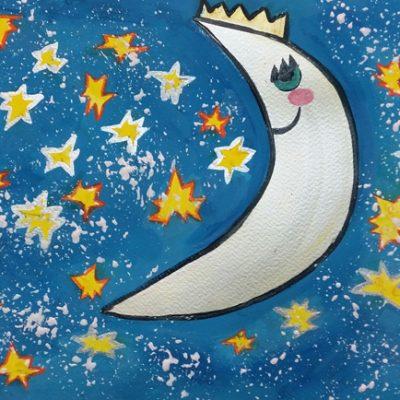 نقاشی خلاق .اثر آلینا کاظمی .۶ ساله .سال ۶ ۹