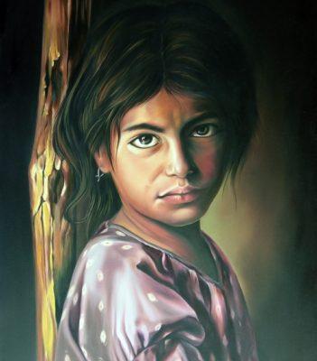 از تمرینات کلاسی.دوره چهره سازی با رنگ روغن.سمیرا غلامرضاپور . سال ۸۵