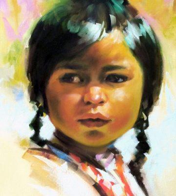 از تمرینات در کلاس آموزش چهره سازی با رنگ روغن . سال ۹۱