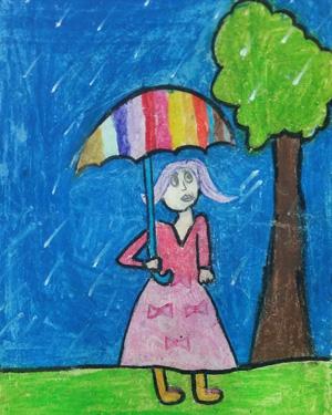 نقاشی خلاق . اثر مهرناز نیازمند . ۸ ساله . سال ۹۵