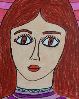 نقاشی خلاق . اثر تارا امامی فر . ۱۱ ساله .سال ۶ ۹