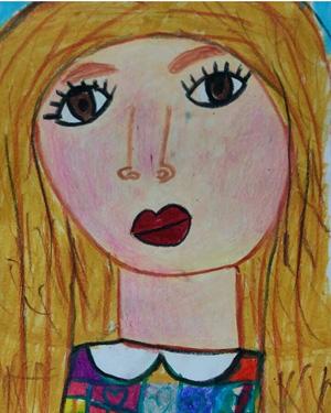 نقاشی خلاق . اثرکیان فکوری . ۷ساله .سال ۶ ۹