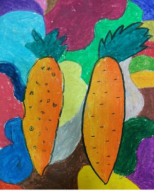 نقاشی خلاق . اثرایرسا نصرالله خواه . ۵ساله .سال ۶ ۹