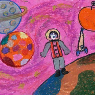 نقاشی خلاق . اثر شکرانه جمالی  . ۷ساله . سال ۶ ۹