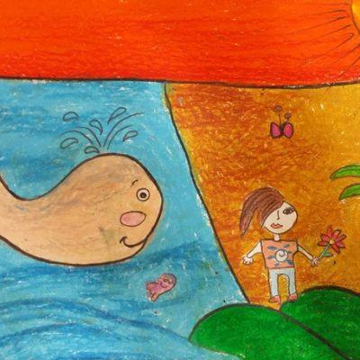 نقاشی خلاق . اثر نیکو اسد . ۹ ساله .سال ۶ ۹