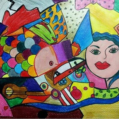نقاشی خلاق . اثر نیکو رخشان . ۹ ساله .سال  ۹۴