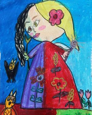 نقاشی خلاق . اثر پارمیدا مجلسی . ۷ساله . سال ۶ ۹