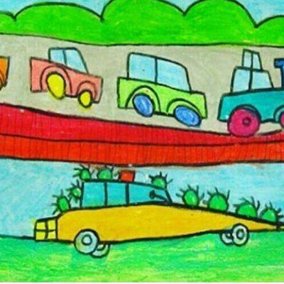 نقاشی خلاق . اثر کارن خاتمی . ۵ ساله .سال  ۹۴