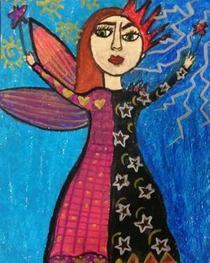 نقاشی خلاق . اثر ویدا مهدوی . ۱ ۱ ساله .سال ۶ ۹