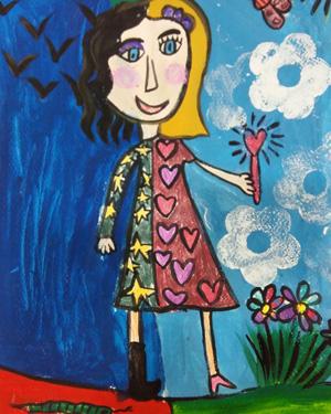 نقاشی خلاق . اثر سوگند طوافی . ۷ساله .سال ۶ ۹