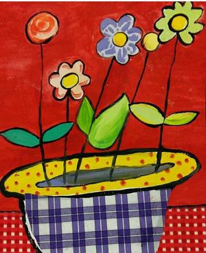 نقاشی خلاق . اثر پریا فتحی . ۹ساله .سال ۹۴