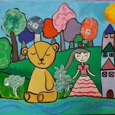 نقاشی خلاق . اثر ماهک عبدی . ۱۰ ساله .سال ۶ ۹