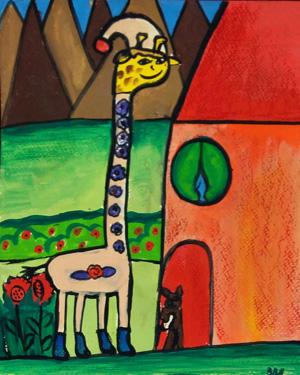 نقاشی خلاق . اثرالهه اسدی . ۹ساله .سال ۶ ۹