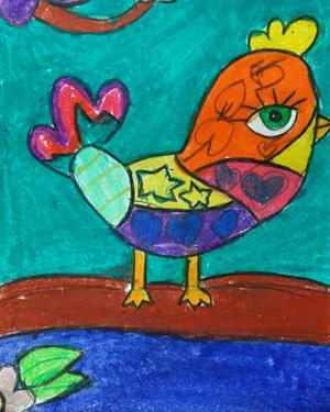 نقاشی خلاق . اثر رها بدرتولمی . ۷ساله .سال ۶ ۹