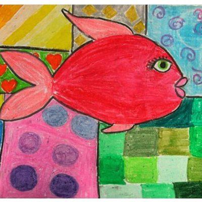 نقاشی خلاق . اثر ملیکا انصار . ۱۲ساله . سال ۹۴