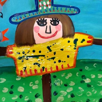 تکنیک گواش .تمرینی از آلینا کاظمی .۶ ساله .سال ۶ ۹