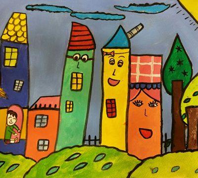 نقاشی خلاق . اثر ملیکا جم جامپور .۱۰ ساله .سال ۶ ۹
