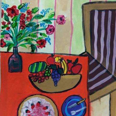 نقاشی خلاق . اثر فاطمه رستمی . ۸ ساله . سال  ۶ ۹