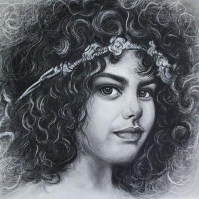 از تمرینات دوره طراحی چهره . آزیتا مظهری . سال ۹۳