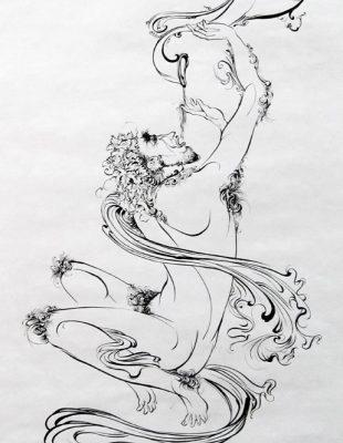 تمرين قلم گيري . آيناز خياطي . سال ۹۱