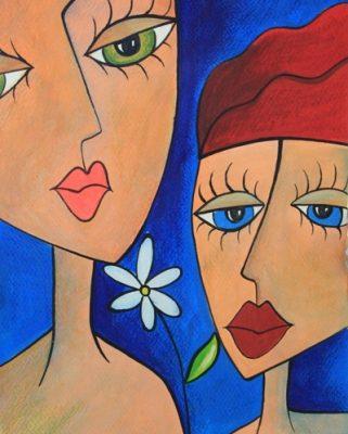 نقاشي خلاق . اثر غزل صیاد . 9ساله . سال ۹۴