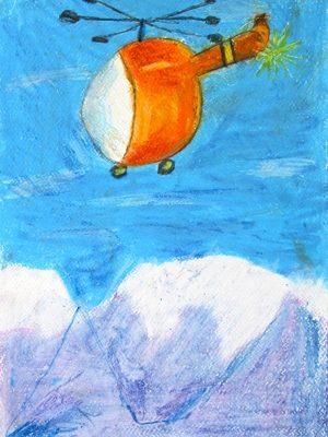 نقاشي خلاق . اثر اميد اسمي . ۸ ساله . سال ۹۲