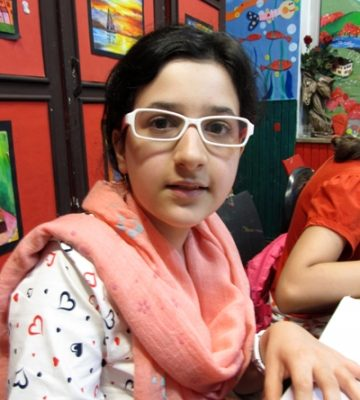 ملیکا انصار . ۱۲ ساله . سال ۹۴