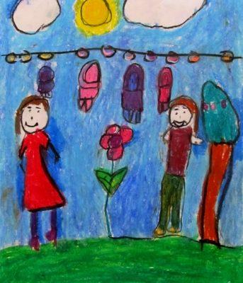 نقاشي خلاق . اثر هستي زارعي . ۷ ساله . سال ۹۲