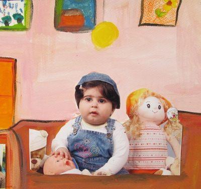 کلاژ نقاشي . اثر سما سمناني . ۹ ساله . سال ۹۲
