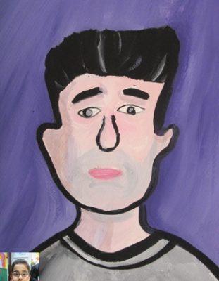 نقاشي خلاق . اثر مير ايمان عبدالله زاده . ۹ ساله . سال ۹۲