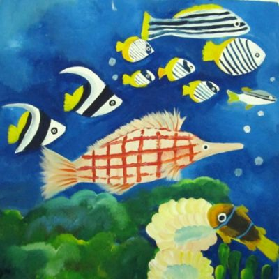 نقاشي خلاق . اثر آرتین آذرنژاد .۸ ساله . سال94