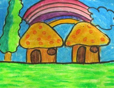 نقاشی خلاق .اثر فاطمه قوامی . ۱۰ ساله . سال ۹۴