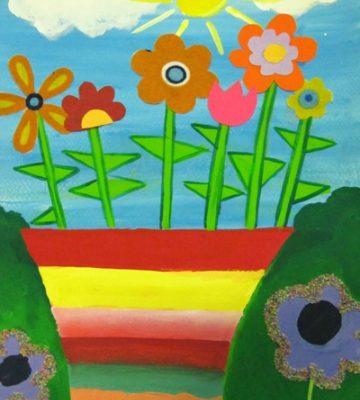 نقاشی خلاق .اثر آراد رضوانی . ۷ ساله . سال ۹۴