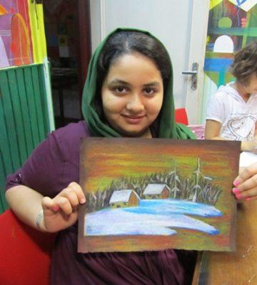 سانيا ساجدي . ۱۰ ساله . سال ۹۲