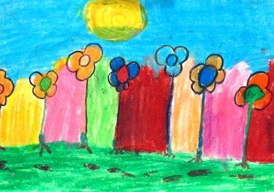نقاشي خلاق . اثر زيبا ستوده . ۷ ساله .سال ۹۲