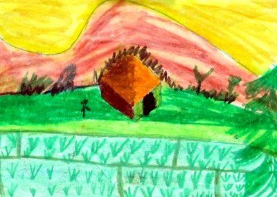 نقاشي خلاق . اثر محمدرضا سليماني . ۹ ساله . سال ۹۲