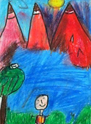 نقاشي خلاق . اثر محمدحسين خداشناس . ۸ ساله . سال ۹۲