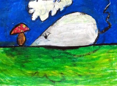 نقاشي خلاق . اثر محدثه جعفرزاده . ۶ ساله . سال ۹۲