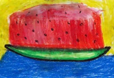 نقاشي خلاق . اثر مرضيه باقري . ۶ ساله .سال ۹۲