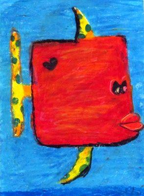 نقاشي خلاق . اثر آيدا بخشي . ۱۰ ساله . سال ۹۲