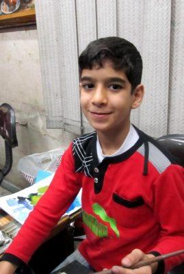 مصطفی ابراهیمی . ۹ ساله . سال ۹۲