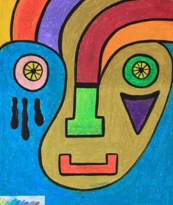 نقاشي خلاق . اثر باران صفری . ۶ ساله . سال ۹۳