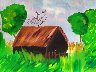 نقاشي خلاق . اثر آيدا قلي پور . 8ساله . سال93