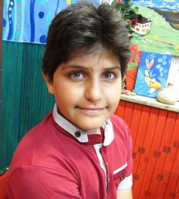 امیر علی حقوقی فرد . ۱۱ ساله . سال ۹۴