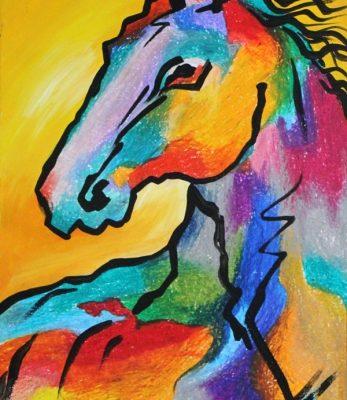 نقاشي خلاق . اثر سپنتا کاووسی . 9ساله . سال ۹۳