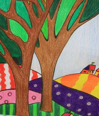 نقاشي خلاق . اثر مانی هاشمی . ۱۰ ساله . سال ۹۳